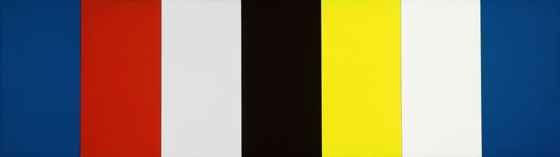 Red Yellow Blue White and Black